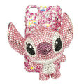 Bling Swarovski Stitch diamond crystal cases covers for iPhone 4G - Pink