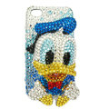Bling Swarovski Ugly Duckling crystals diamond cases covers for iPhone 4G - Blue