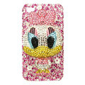 Bling Swarovski Ugly Duckling crystals diamond cases covers for iPhone 4G - Pink