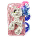 Bling Swarovski Unicorn crystals diamond cases covers for iPhone 4G - Pink