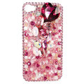 Bling Swarovski crystals diamond cases covers for iPhone 4G - Pink