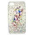 Bling Swarovski crystals diamond cases covers for iPhone 4G - White