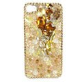 Bling Swarovski crystals diamond cases covers for iPhone 4G - Yellow