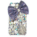 Bling bowknot Swarovski crystals diamond cases covers for iPhone 4G - Purple