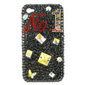 Bling Butterfly NO1 Swarovski crystal diamond cases covers for iPhone 4G - Black