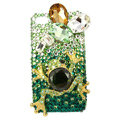 Bling Frog Swarovski crystal diamond cases covers for iPhone 4G - Green