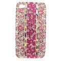 Bling Swarovski crystal diamonds cases covers for iPhone 4G - Pink