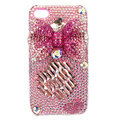Bling bowknot Swarovski crystal diamond cases covers for iPhone 4G - Pink EB003