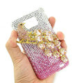 Bling Magpies Swarovski crystals diamond cases covers for Samsung i9100 Galasy S II S2 - Pink