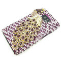 Bling Peacock Swarovski crystals diamond cases covers for Samsung i9100 Galasy S II S2 - Purple
