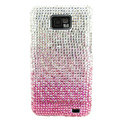 Bling Swarovski crystals diamond cases covers for Samsung i9100 Galasy S II S2 - Gradient Pink