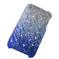 Bling crystals diamonds cases covers for iPhone 3G 3GS - Gradient Blue