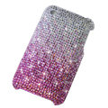 Bling crystals diamonds cases covers for iPhone 3G 3GS - Gradient Pink