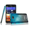 Imak Colorful raindrop cases covers for Samsung Galaxy Note i9220 N7000 - Gradient Blue (Screen protection film)