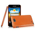 Imak ice cream hard cases covers for Samsung Galaxy Note i9220 N7000 i717 - Orange (Screen protection film)