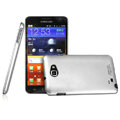 Imak metal shell hard cases covers for Samsung Galaxy Note i9220 N7000 i717 - Silver (Screen protection film)