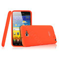 Imak silicone cases covers for Samsung Galaxy Note i9220 N7000 i717 - Orange (Screen protection film)