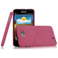 Imak ultra-thin hard skin cases covers for Samsung Galaxy Note i9220 N7000 i717 - Rose (Screen protection film)