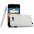 Imak ultra-thin hard skin cases covers for Samsung Galaxy Note i9220 N7000 i717 - White (Screen protection film)