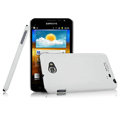 Imak ultra-thin scrub hard cases covers for Samsung Galaxy Note i9220 N7000 i717 - White (Screen protection film)