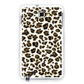 Leopard silicone cases covers for Samsung Galaxy Note i9220 N7000 - Brown