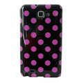 Polka Dot silicone cases covers for Samsung Galaxy Note i9220 N7000 - Purple