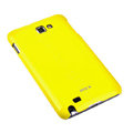 ROCK bright side skin hard cases covers for Samsung Galaxy Note i9220 - Yellow (Screen protection film)