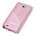 ROCK magic cube TPU soft case skin covers for Samsung Galaxy Note i9220 - Pink (Screen protection film)