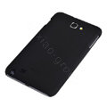 ROCK matte scrub skin hard cases covers for Samsung Galaxy Note i9220 - Black (Screen protection film)