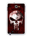Skull silicone cases covers for Samsung Galaxy Note i9220 N7000 - Red