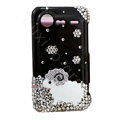 Bling Sheep crystals diamond cases covers for HTC Incredible S S710e G11 - Black