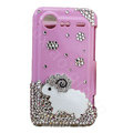 Bling Sheep crystals diamond cases covers for HTC Incredible S S710e G11 - Rose