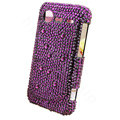 Bling crystals diamond cases covers for HTC Incredible S S710e G11 - Purple