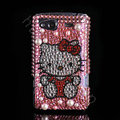Bling hello kitty crystals diamond cases covers for HTC Salsa G15 C510e - Pink