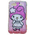 Bling hello kitty crystals diamond cases covers for HTC Salsa G15 C510e - Rose