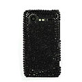 Bling Point crystals cases diamond covers for HTC Incredible S S710e G11 - Black
