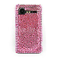 Bling Point crystals cases diamond covers for HTC Incredible S S710e G11 - Pink