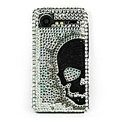 Bling Skull crystals hard cases diamond covers for HTC Incredible S S710e G11 - White