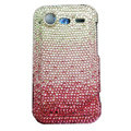 Bling crystals diamonds cases covers for HTC Incredible S S710e G11 - Gradient pink