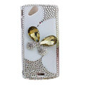 Bling Butterfly crystals cases covers for Sony Ericsson Xperia Arc LT15I X12 LT18i - White