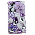 Bling Flower crystals cases covers for Sony Ericsson Xperia Arc LT15I X12 LT18i - Light purple