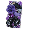Bling Flower crystals cases covers for Sony Ericsson Xperia Arc LT15I X12 LT18i - Purple