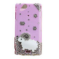 Bling Little lamb crystals cases covers for Sony Ericsson Xperia Arc LT15I X12 LT18i - Pink
