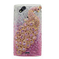 Bling Peacock crystals cases covers for Sony Ericsson Xperia Arc LT15I X12 LT18i - Gradual Pink