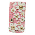 Bling flowers covers crystals cases for Sony Ericsson Xperia Arc LT15I X12 LT18i - Pink