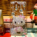 Hello kitty bling crystals cases covers for Sony Ericsson Xperia Arc LT15I X12 LT18i - Pink
