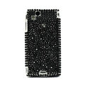 Point bling crystals cases covers for Sony Ericsson Xperia Arc LT15I X12 LT18i - Black