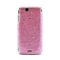 Point bling crystals cases diamond covers for Sony Ericsson Xperia Arc LT15I X12 LT18i - Pink