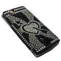 Stone mandrel bling crystals cases covers for Sony Ericsson Xperia Arc LT15I X12 LT18i - Black