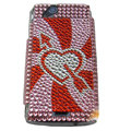 Stone mandrel bling crystals cases covers for Sony Ericsson Xperia Arc LT15I X12 LT18i - Red